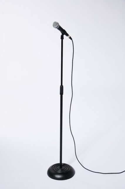 Alternate view 1 of Evans Microphone with Stand