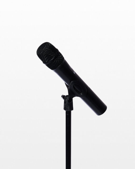 Front view of Earl Wireless Microphone with Stand