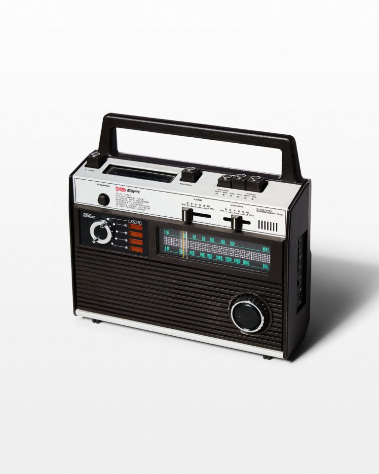 Front view of Empire 8-Track Player and Radio
