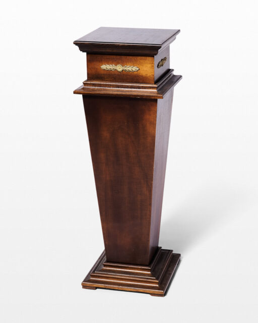 Front view of Tab Wooden Pedestal