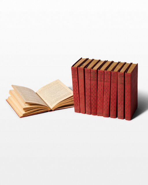 Front view of Petite Burgundy Book Set