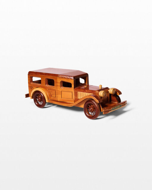Front view of Highway Antique Wooden Car