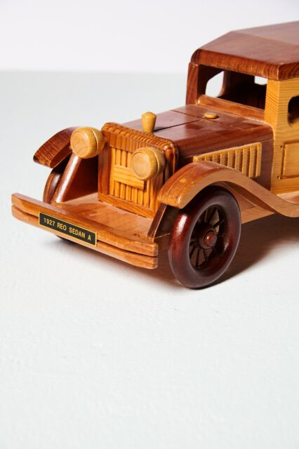 Alternate view 4 of Highway Antique Wooden Car