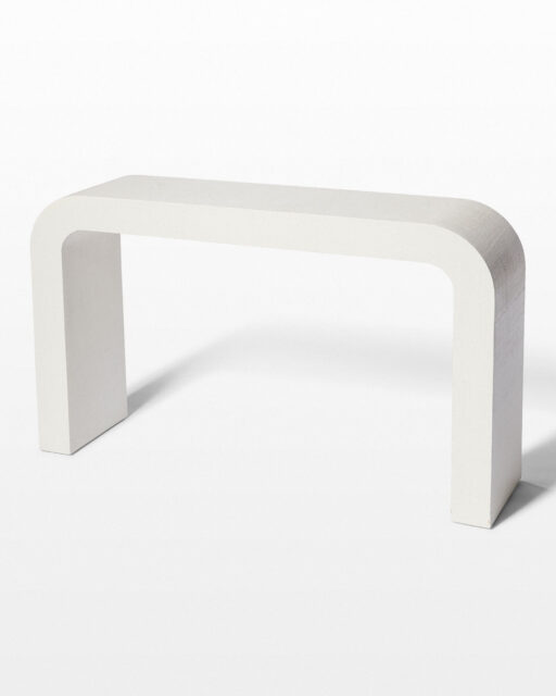 Front view of Legion Textured Linen Console Table