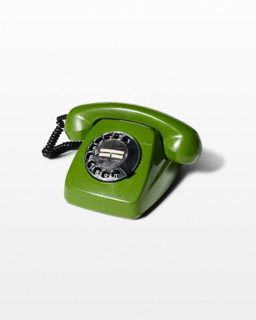 Front view of Avo Green Rotary Phone