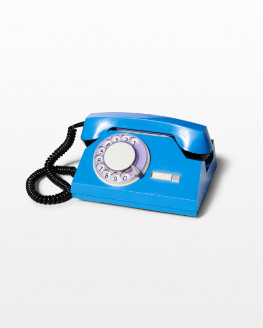 Front view of Breeze Blue Rotary Phone