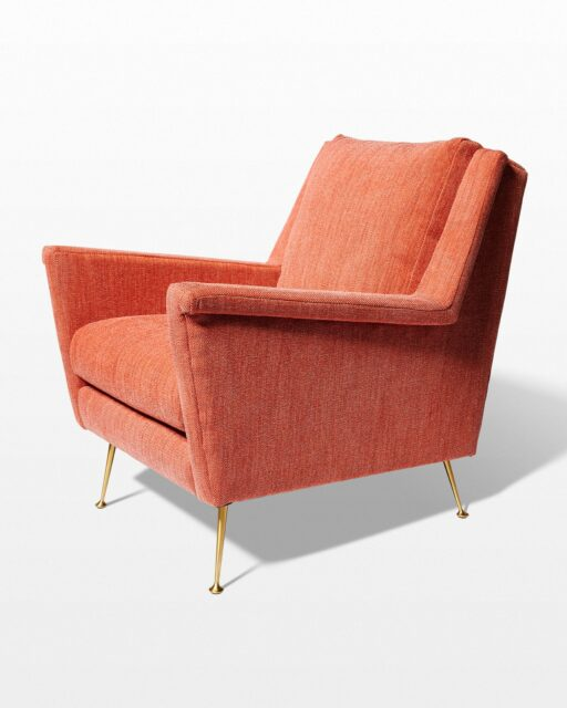 Front view of Ojo Desert Coral Armchair