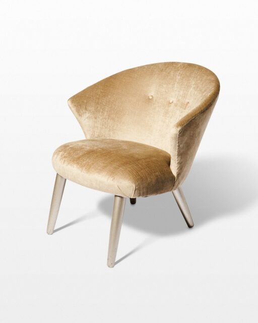 Front view of Matilda Velvet Side Chair
