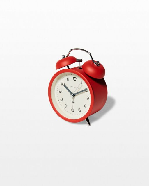 Front view of Polly Red Alarm Clock
