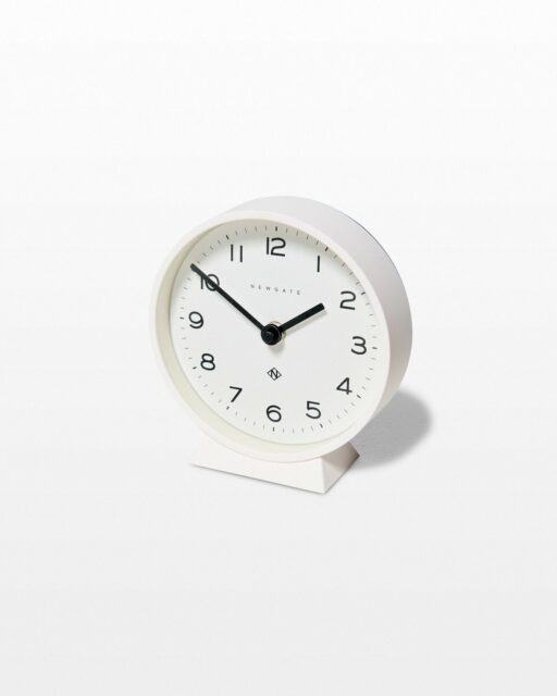 Front view of Jorna White Mantle Clock