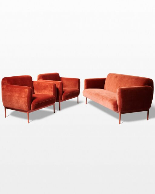 Front view of Roma Sofa and Armchairs Set