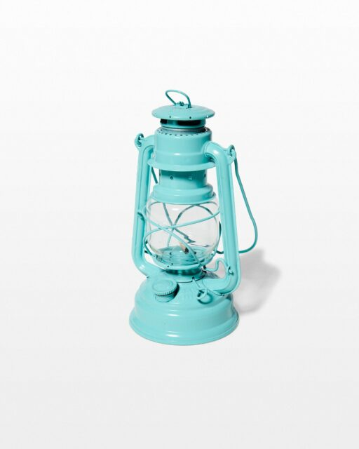 Front view of Maia Teal Lantern