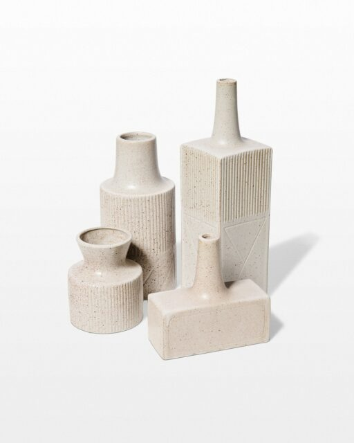 Front view of Caldicot Stonewear Vase Set