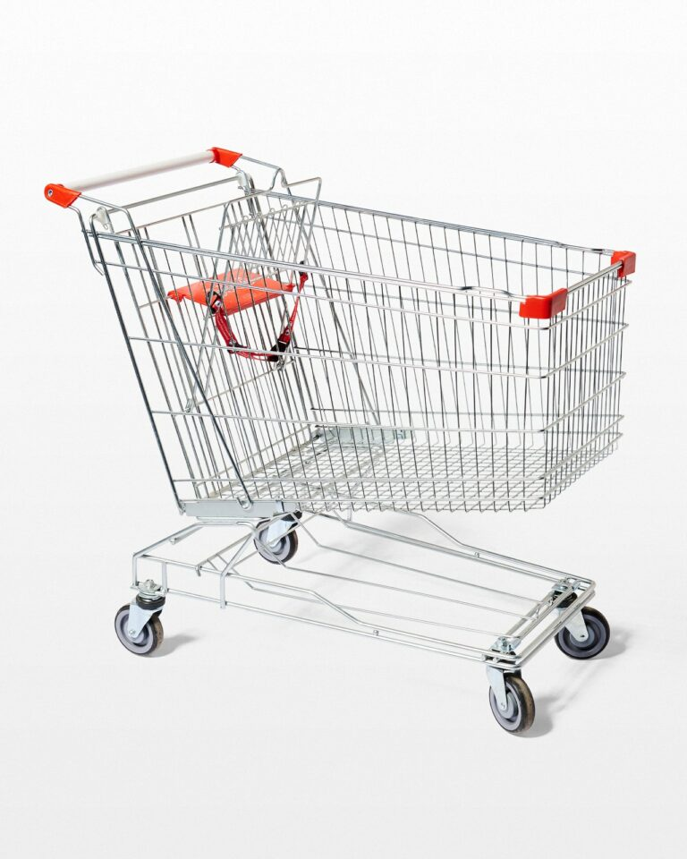 Front view of Edward Supermarket Shopping Cart