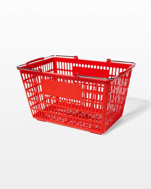 Front view of Harris Red Shopping Basket