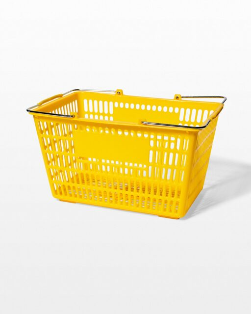 Front view of Cane Yellow Shopping Basket