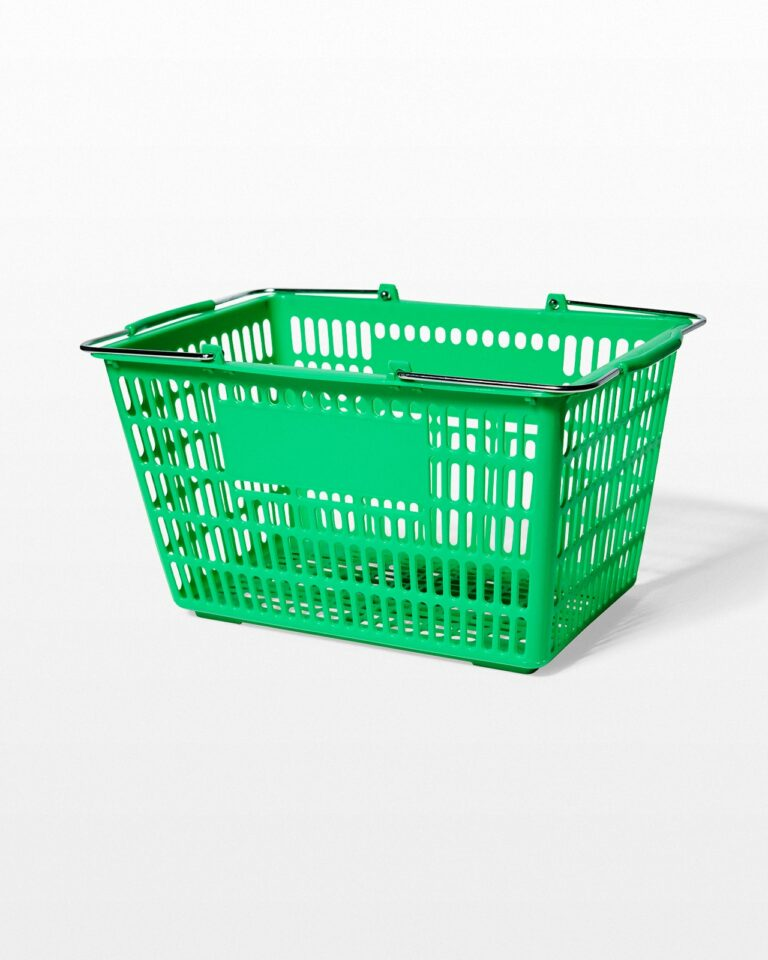 Front view of Zip Green Shopping Basket