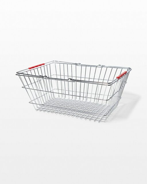 Front view of Brock Chrome Shopping Basket