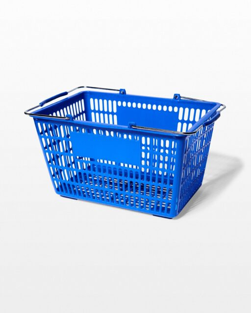 Front view of Key Blue Shopping Basket