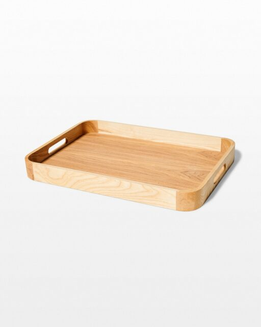 Front view of Basil Wooden Tray