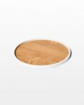 Front view thumbnail of Froy White Edge Wooden Tray