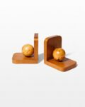 Front view thumbnail of Vigor Wooden Sphere Bookends