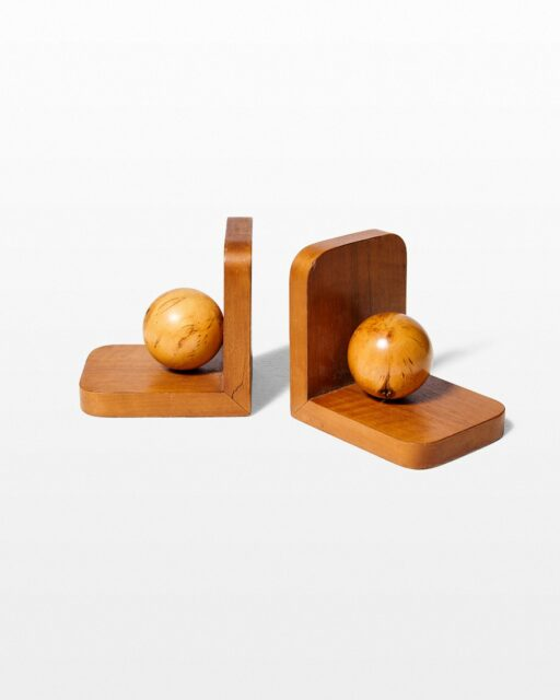 Front view of Vigor Wooden Sphere Bookends
