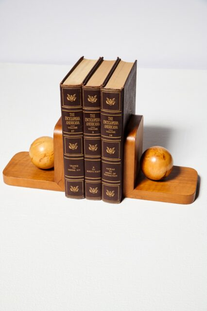 Alternate view 2 of Vigor Wooden Sphere Bookends