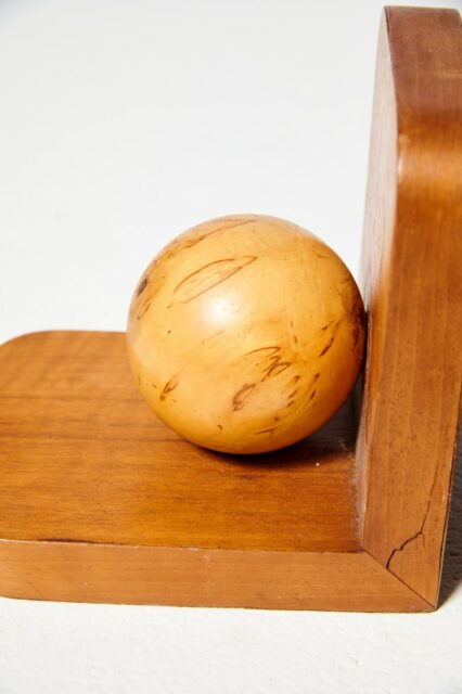 Alternate view 1 of Vigor Wooden Sphere Bookends