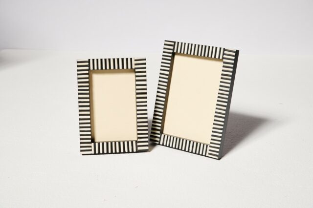 Alternate view 1 of Inez Inlaid Stripe Picture Frame Duo