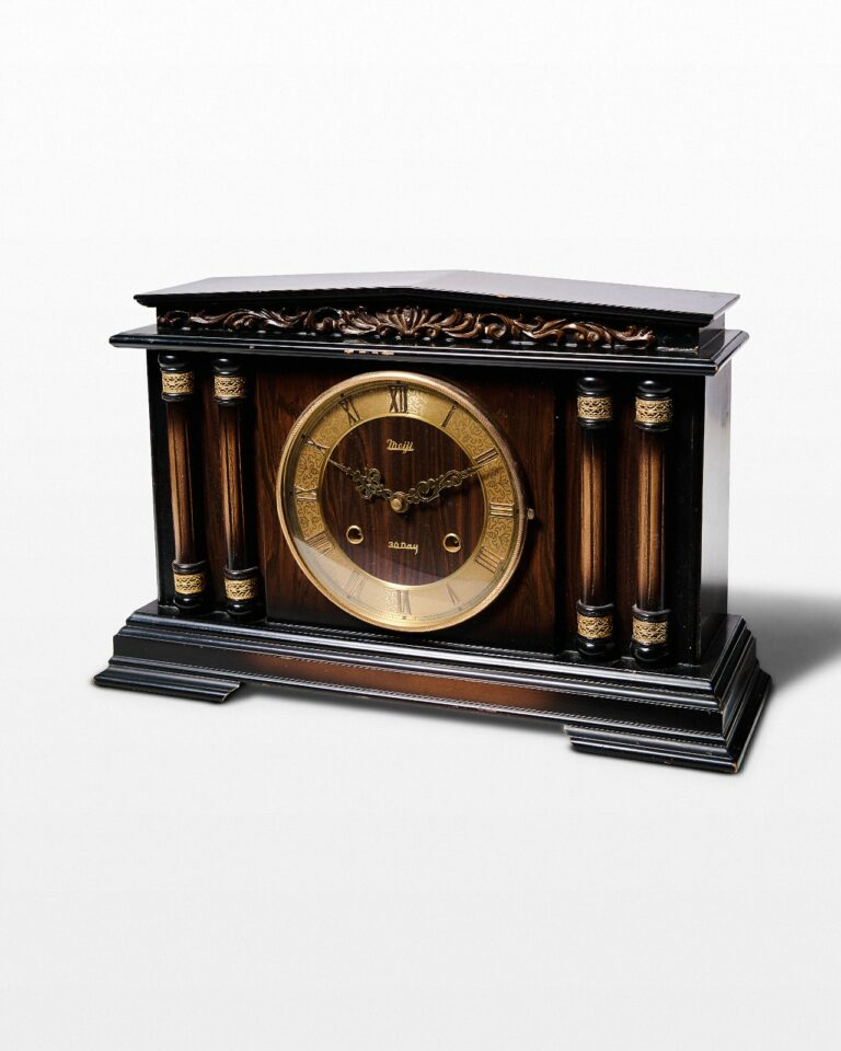 Front view of Colonnade Windup Mantle Clock