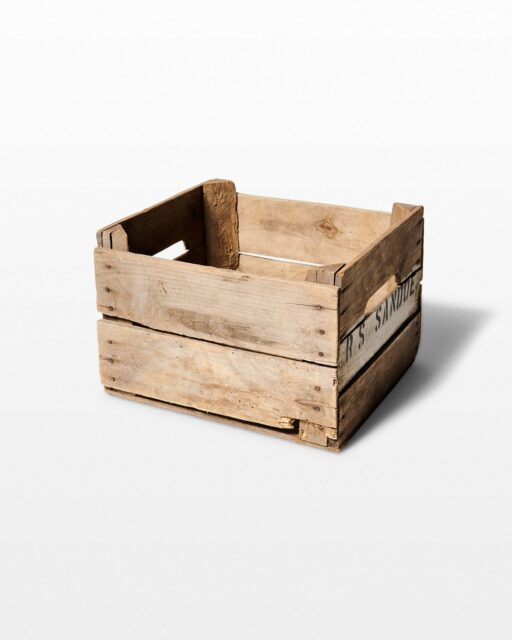 Front view of Lewes Crate