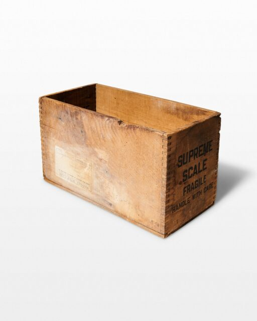 Front view of Pawley Crate
