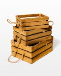 Front view thumbnail of Plank Wooden Crate Trio
