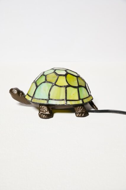 Alternate view 2 of Stained Glass Turtle Accent Lamp