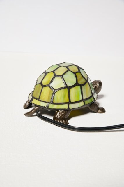 Alternate view 3 of Stained Glass Turtle Accent Lamp