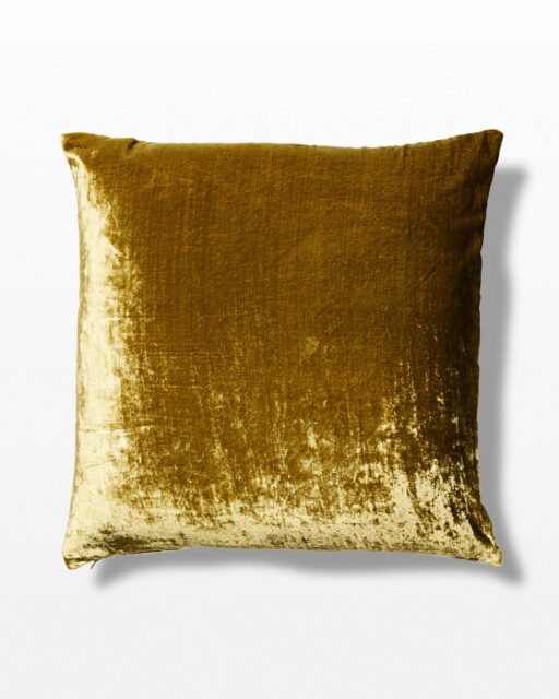 Front view of Wasabi Green Velvet Pillow