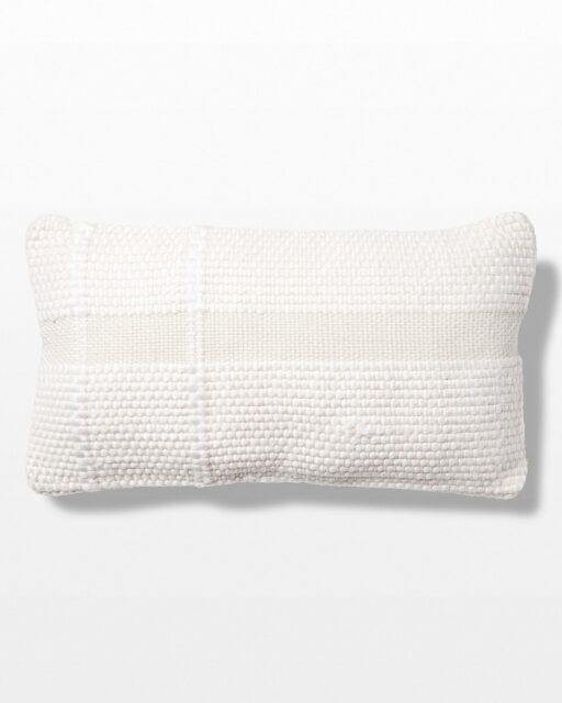 Front view of Summa Woven Wool Pillow