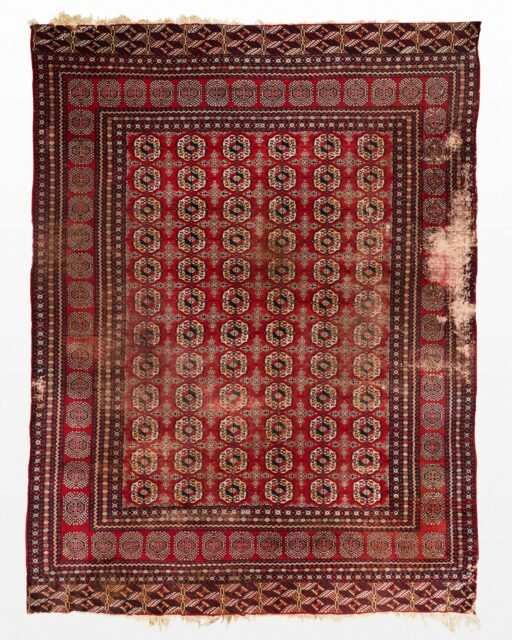 Front view of Petra 96″ x 12′ Foot Distressed Rug
