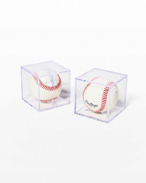 Front view of Memorabilia Baseball Pair