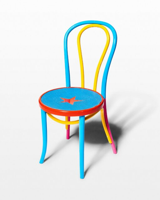 Front view of Star Multicolored Chair