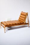 Alternate view thumbnail 2 of Gulf Teak and Leather Chaise Lounge
