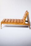 Alternate view thumbnail 3 of Gulf Teak and Leather Chaise Lounge