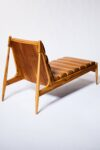 Alternate view thumbnail 4 of Gulf Teak and Leather Chaise Lounge
