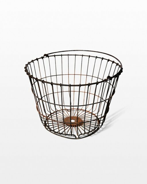Front view of Wales Distressed Wire Basket