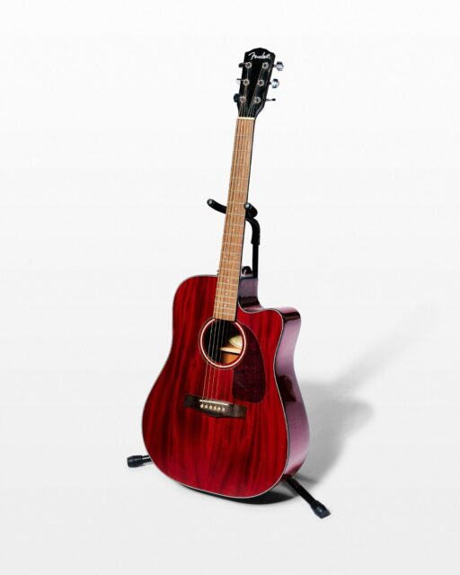 Front view of Pistella Cherry Acoustic Guitar
