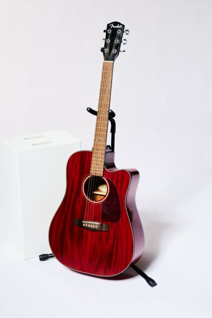 Alternate view 2 of Pistella Cherry Acoustic Guitar