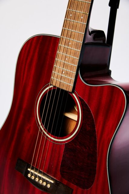 Alternate view 1 of Pistella Cherry Acoustic Guitar