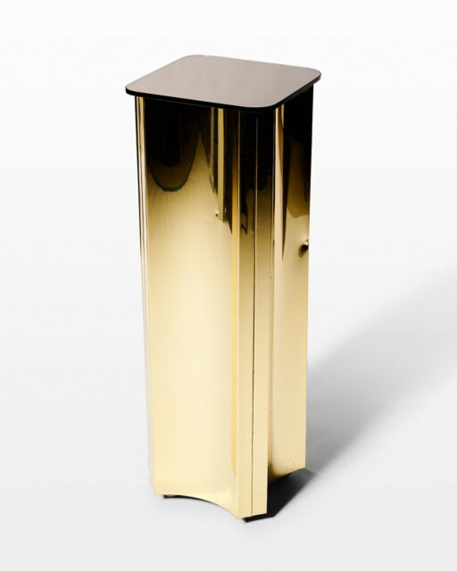 Front view of Wonder Gold and Mirror Pedestal