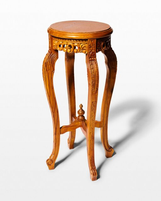 Front view of Lee Pedestal Table